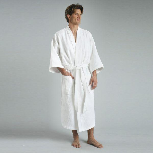 Diamond Waffle 100% Cotton Kimono